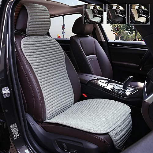 Insun Car Seat Cover Universal Car Front Seat Cover PU Leather Car Seat Pad with Edge Wrapping Car Interior Seat Cushion Waterproof Seat Protector