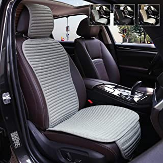 Car Seat Covers,Suninbox Buckwheat Hull Universal Car Seat Covers,Bottom Seat Covers For Cars,Air Bag Compatible,Breathable Comfortable Ventilated,1 Pack Gray Front Seat