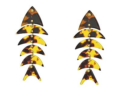 J.Crew Acetate Fish Earrings (Tortoise) Earring