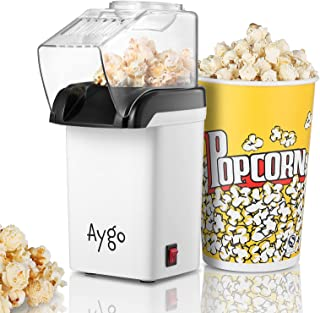 Aygo Machine à pop-corn à air chaud pour la préparation de grains de maïs sans graisse - Machine à pop-corn rétro pour le ...
