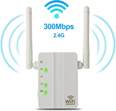 WiFi Range Extender - 300Mbps WiFi Extender Repeater/Access Point/Router Dual Band 2.4GHz Wireless Signal Booster & Gigabit Ethernet Port WiFi Range Amplifier 2 External Antennas Internet Extender