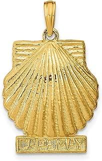 Lex & Lu 14k Yellow Gold 3D Cape May Scallop Shell Pendant