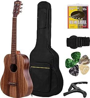 Muslady Guitarra Acústica Guitarra de Madera de Teca de 34 ...