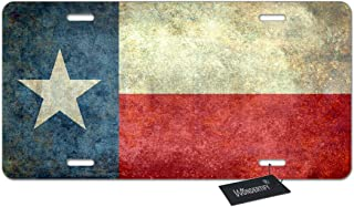 WONDERTIFY License Plate Texas State Flag American The Lone Star Flag of The Great Lone Star State Decorative Car Front License Plate,Vanity Tag,Metal Car Plate,Aluminum Novelty License Plate