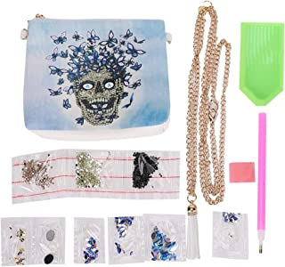 Fashion DIY Diamond Painting PU Leather Chain Bag Cross-Body Bag with Beautiful Pattern,Gift for Kids,Exercise Children's ...