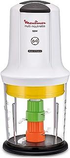 Moulinex hachoir Multimoulinette–6en 1, puissance 500W, couleur blanc