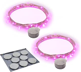 RTGS Products 2 Sets of 20 LEDs Lights Indoor and Outdoor 7.5 FEET String Lights, Fairy Lights Battery Powered for Patio, ...