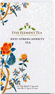5 Element Tea - Herbal Tea for Anti Stress and Anxiety to Calm Spirit, Promote Stress Relief, and Regulate Pulse