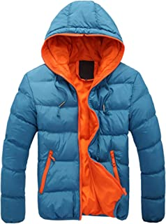 78d4d9fd21fa WISREMT Men s Winter Hooded Lightweight Down Puffer Jacket Warm Parka  Outwear