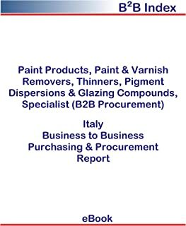 Paint Products, Paint & Varnish Removers, Thinners, Pigment Dispersions & Glazing Compounds, Specialist (B2B Procurement) in Italy: B2B Purchasing + Procurement Values