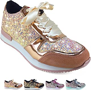 Barcelonetta Women | Glitter Fashion Sneakers | Sparkly Shoes