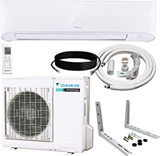 Daikin 17 Series Single Zone Wall-Mount Mini Splits – 17 SEER Select from 9000 BTU to 24000 BTU with Heat Pump – Includes LINE Set and Bracket (18000 BTU)