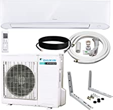 DAIKIN 9,000 BTU 17 SEER Wall-Mounted Ductless Mini-Split Inverter Air Conditioner Heat Pump System 15 Ft. Installation Ki...