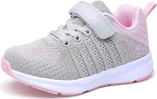 Baskets Enfant Sneakers Basses Respirant Chaussure de Course Fille Garçon Mode Sport Running Shoes Compétition Entraî...