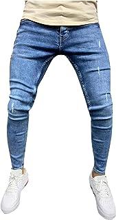Ode-Joy Jeans Uomo Autunno Informale Denim Cotton Vintage Lavare Il Lavoro Hip Hop I Pantaloni Jeans Pantaloni Elasticizza...