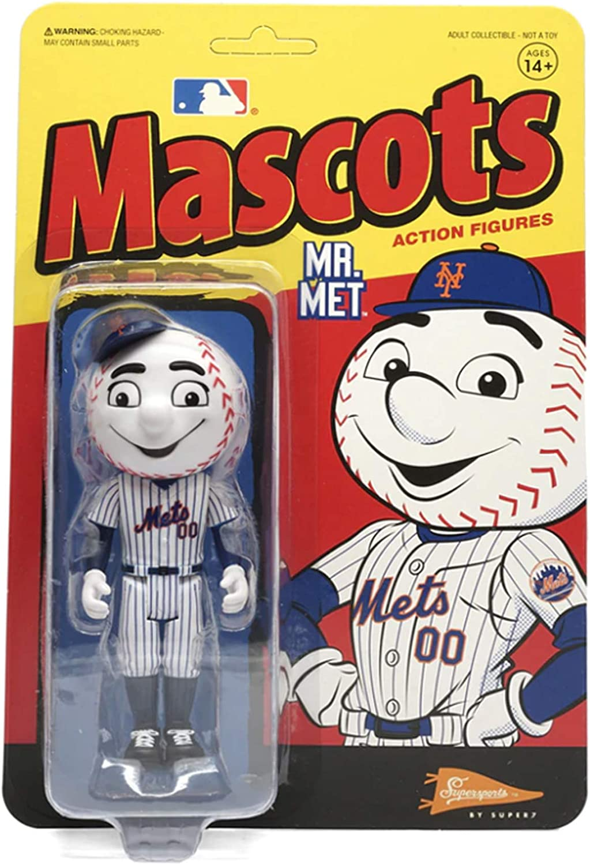 Mr. 1 year warranty Met Mascots favorite Mets MLB Action Figure 7 Super Reaction