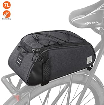 Double Panniers Bag Bike Bicycle Cycling Rear Seat Pack Rack Bag Trunk T8C0