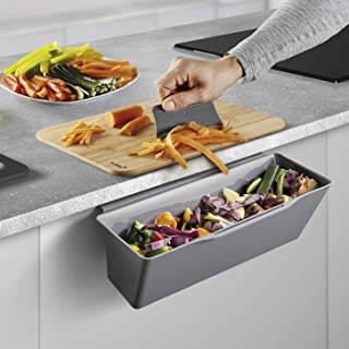comprar comparacion Metaltex Cesta recogedora para residuos de Cocina (35 x 16 x 13 cm), Color Gris, 35x16x13 cm