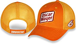 Checkered Flag Sports Ryan Newman #6 Oscar Mayer 2020 Sponsor Mesh NASCAR Trucker Hat - Orange