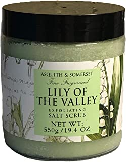 Asquith & Somerset Lily of the Valley Exfoliating Salt Scrub 19.4 Oz. From England