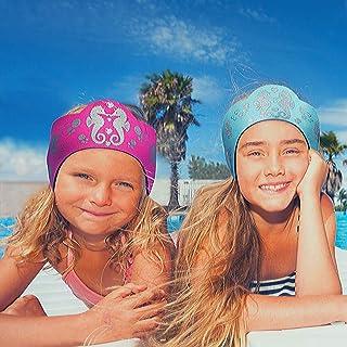 Will & Fox Kids Swimming Headband Ultra Grip Thick Neoprene Ear Band Keeps Ears Dry and Earplugs Secure - Free Silicone Sw...