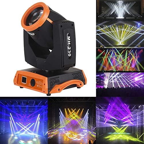 Docooler Moving Head Light Gobo Pattern Prism Rotating Lamp 230W RGBW 16 Channel DMX512 for Disco