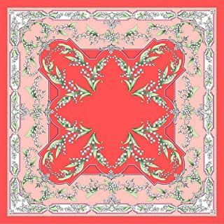 Happy-L Beautiful Ladies New Silk Scarf 90cm Large Square Scarf Retro Printed Decorative Scarf Shawl (Color : 04)