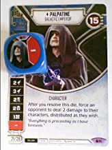 Star Wars Destiny Spirit of Rebellion [B] (Legendary) Palpatine - Galactic Emperor Card #11 & Dice