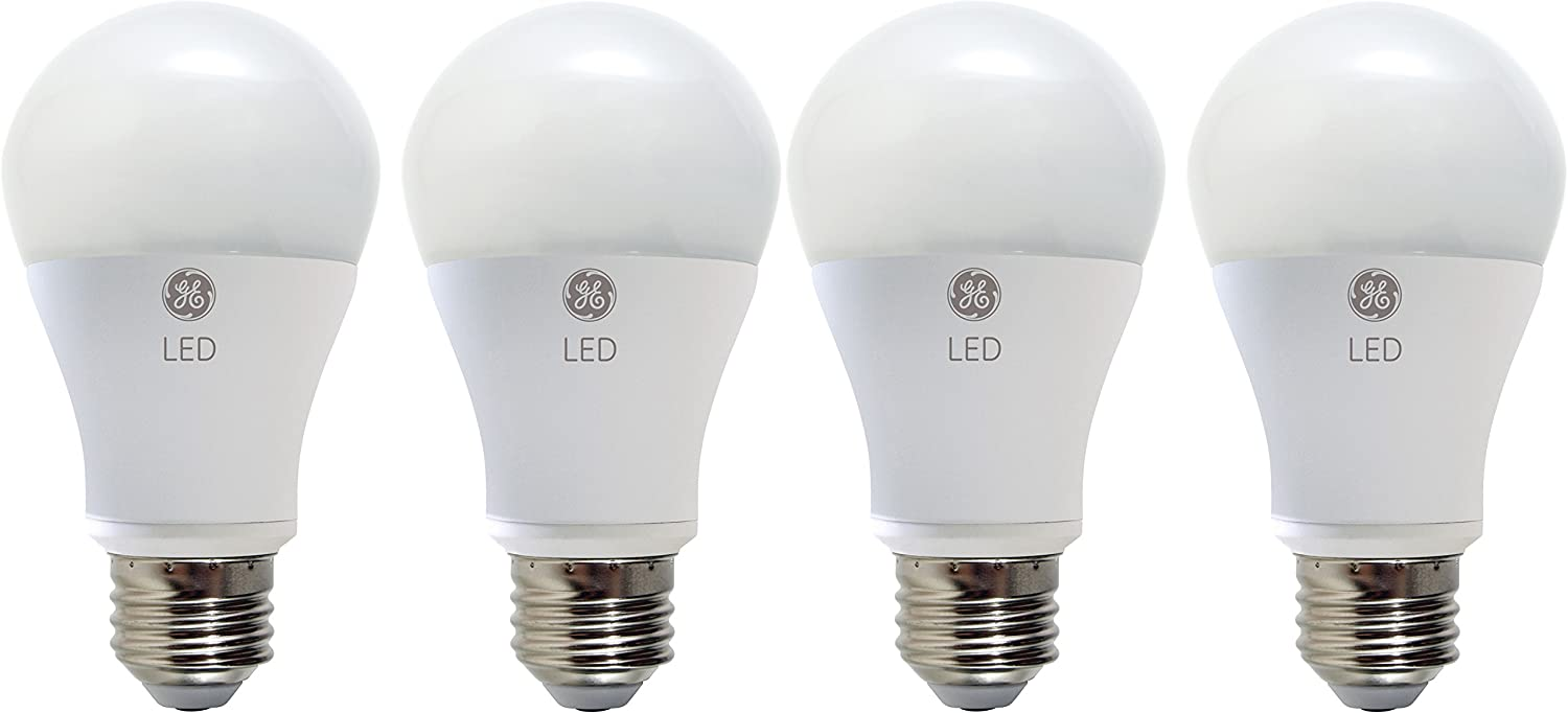 GE LED New Shipping Free Rare Light Bulb A19 60-Watt 4-Pack Daylight LE Replacement