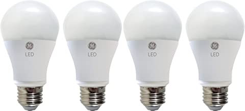 GE Lighting 67616 LED A19 Light Bulb with Medium Base, 10.5-Watt, Daylight, 4-Pack, 4 Pack, 4 Piece
