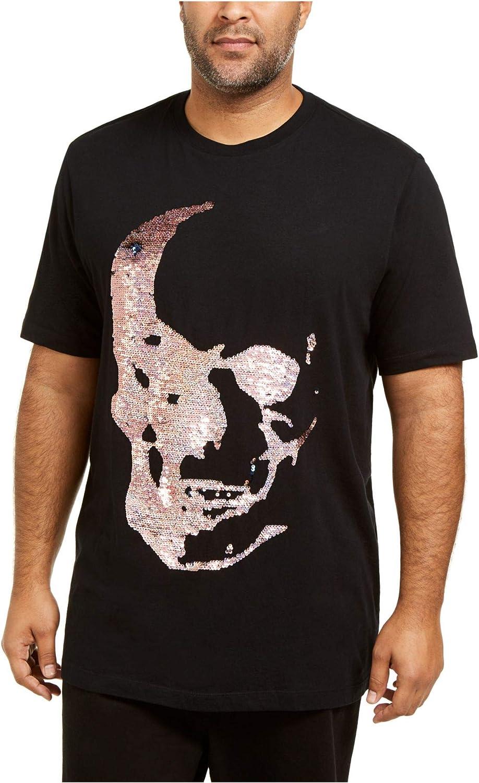 INC Mens Black Short Sleeve Classic Fit Casual Shirt XL Tall