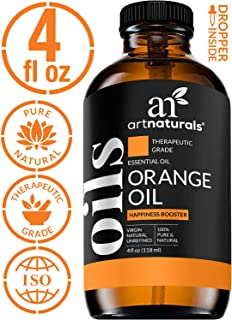 ArtNaturals 100% Pure Sweet Orange Essential Oil - (4 Fl Oz / 120ml) - Undiluted Therapeutic Grade Citrus Oil - Happiness Energize and Motivate