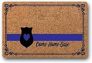 BXBCASEHOMEMAT Come Home Safe Doormat, Police Doormat, Wedding Gift, Closing Gift, Newlywed Gift, Housewarming Gift, Welco...