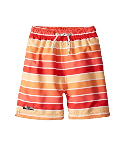 Toobydoo Classic Swim Shorts (Infant/Toddler/Little Kids/Big Kids) (Orange Multi Stripe) Boy