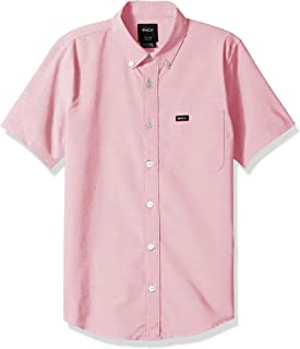 RVCA Boys' Big Thatll Do Stretch Short Sleeve Woven Button Up Shirt