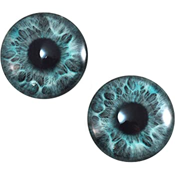 25mm Round Dinosaur Creature Glass Eyes Pair for Fantasy Doll or Taxidermy Art