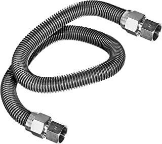 Flextron FTGC-SS38-60B 152 cm elastyczne złącze przewodu gazowego z średnicą zewnętrzną 1/2 cala FIP x 1/2 cala, niepowlek...