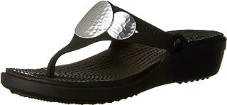 crocs Sanrah Embellished Women Wedge in Black