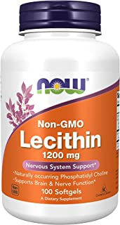 Now Foods Lecithin 1200mg, Softgels, 100ct