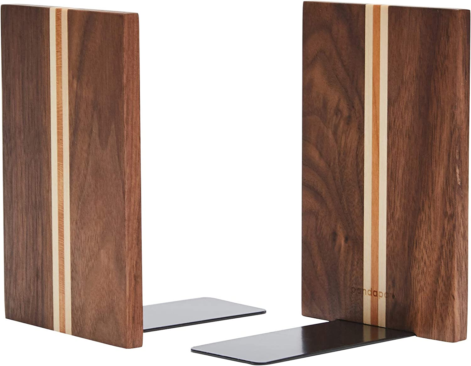 Pandapark New sales Wood Bookends Nature Decorative Coating Nippon regular agency 6''X4' Bookend