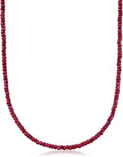 Ross-Simons 50.00 ct. t.w. Rough-Cut Ruby Bead Necklace in 14kt Yellow Gold