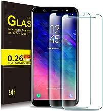 [2 عبوة] واقي شاشة Samsung Galaxy A6 Plus 2018 9H Hardness HD زجاج مقسّى