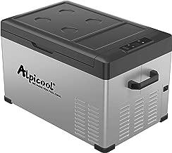 Alpicool C30 Portable Refrigerator 32 Quart(30 Liter) Vehicle, Car, Turck, RV, Boat, Mini Fridge Freezer for Travel, Outdoor and Home use -12/24V DC and 110-240 AC(Black and Silver)