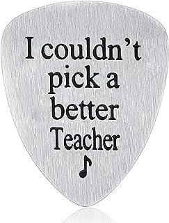 Nimteve Appreciation Teachers Guitar Pick Graduation Thank You Jewelry-I couldn't pick a better Teacher
