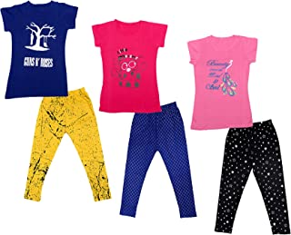 Pack of 6 -Multiple Colors-13-14Years Indistar Big Girls Cotton Full Ankle Length Solid Leggings