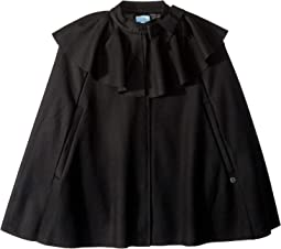 Wool Cape with Bow Detail (Big Kids)