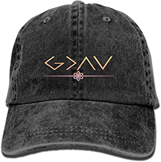 PYH0kox God is Greater Than The Highs and Lows Hat Snap-Back Hip-Hop Cap Baseball Hat Head-Wear Cotton Trucker Hats Navy