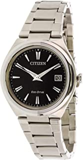 Citizen Women Black Dial Stainless Steel Band Watch - Fe6020-56F