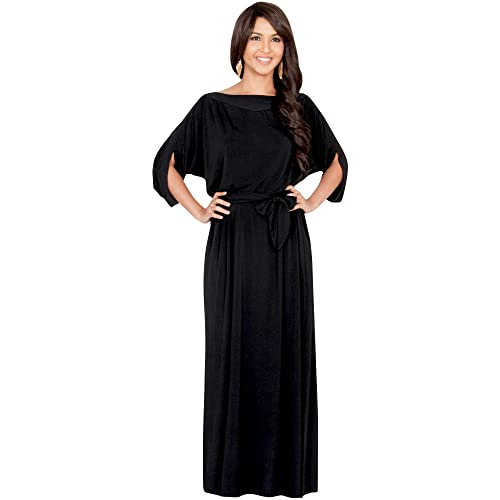 KOH KOH Flowy Formal Batwing Sleeve Evening Casual Gown at Amazon Women s  Clothing store  c791ee9dc