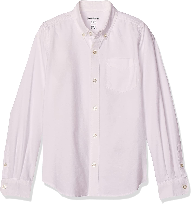 Amazon Essentials Boys' Uniform Long-Sleeve Woven Oxford Button-Down Shirts